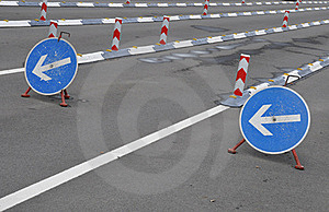 Turn Left Direction Stock Photo - Image: 21176090