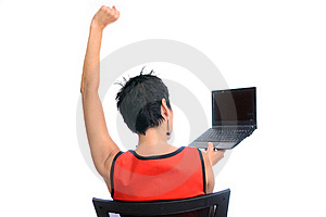 Successful Business Woman On A Laptop Royalty Free Stock Images - Image: 21176989