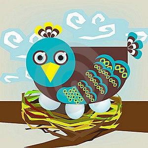 Bird On Nest Stock Photos - Image: 21177683