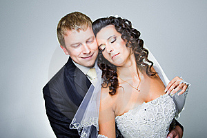 Just Married Bride And Groom Royalty Free Stock Images - Image: 21178379