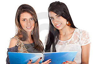 Two Active Happy Teenage Girls Royalty Free Stock Photography - Image: 21180647