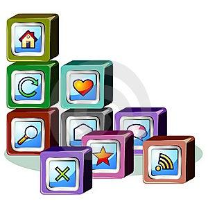 Web Site Building Royalty Free Stock Photos - Image: 21182788