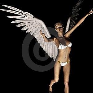 Angel 166 Royalty Free Stock Image - Image: 21185086