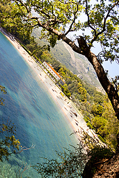 View On Hotel In Sveti Stefan - Montenegro. Stock Images - Image: 21185364