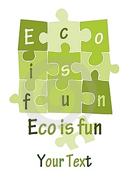 Eco Is Fun - Green Puzzle -  Royalty Free Stock Photo - Image: 21185945