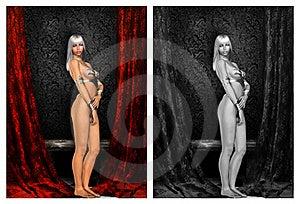 Pin Up Girl Royalty Free Stock Photos - Image: 21190768