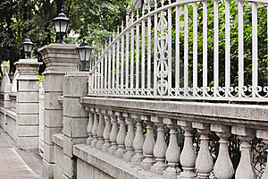 European-style Garden Fence Royalty Free Stock Images - Image: 21191319