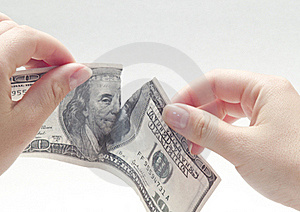 Ripping Dollar Stock Photos - Image: 21196843