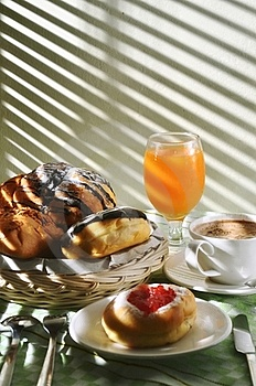 Breakfast Menu With Bread Royalty Free Stock Images - Image: 21198749