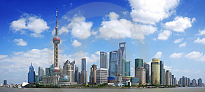 China shanghai panorama Stock Photos