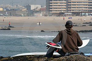 Surfer And Board Stock Images - Image: 2123494