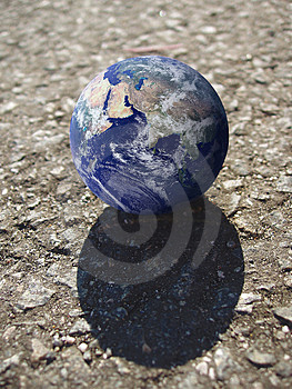 One Earth on Roll Stock Image