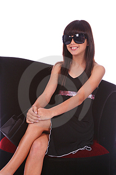 Trendy Girl With Sunglasses Royalty Free Stock Photos - Image: 2127868