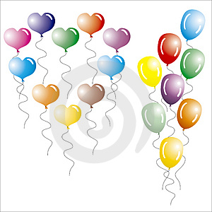 Multi-coloured Balloons. Royalty Free Stock Photos