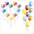 Multi-coloured Balloons.