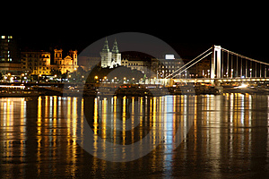 Night View Of Panorama Budapest, Hungary Royalty Free Stock Images - Image: 21200949