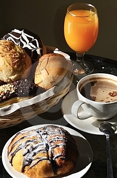 Breakfast Arrangement In A Warm Morning Light. Royalty Free Stock Photography - Image: 21201087