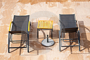 Swimming Pool Rest Chairs  Stock Photos - Image: 21202493