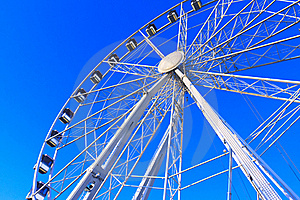 Big Wheel Structure Under A Deep Blue Sky Royalty Free Stock Photography - Image: 21205427