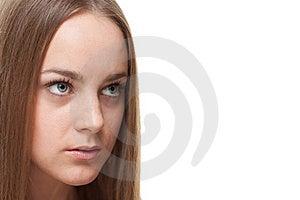 Mujer Rubia Que Mira El Copyspace Imagen de archivo - Imagen: 21206841