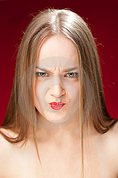 Angry Blond Woman Royalty Free Stock Photo - Image: 21206895