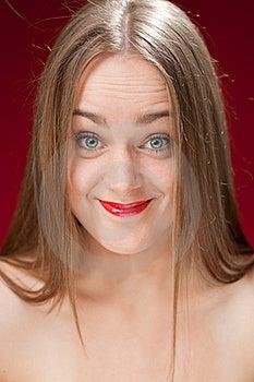 Gewantrouwde Blonde Vrouw Stock Afbeelding - Afbeelding: 21206931