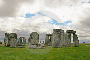 Stonehenge Under A Gloomy Sky, England Royalty Free Stock Photography - Image: 21207027