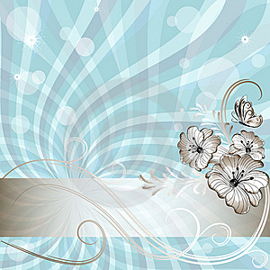 Gentle Blue Floral Frame Stock Photography - Image: 21208372