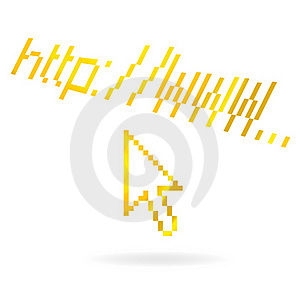 Abstract Web Address Symbol Gold Color Stock Photography - Image: 21213102