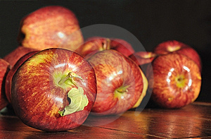 Red Apple On A Dark Background Royalty Free Stock Photography - Image: 21218717