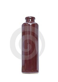 Decorative Ceramic Bottle Isolated On White Stock Photos - Image: 21218913