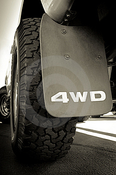 4WD And Tire Stock Photography - Image: 21221542