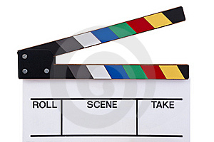 Color Clapperboard Front Stock Images - Image: 21222824