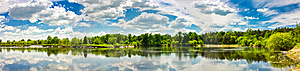 Clouds Reflection On Lake. Stock Image - Image: 21223591