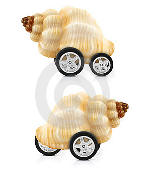 Snail On Wheels Stock Photo - Image: 21223830