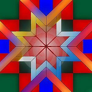 Leavenworth Star Pattern Stock Image - Image: 21225521