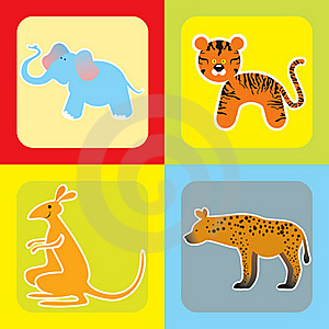 Set Of Cute African Animals -2 Royalty Free Stock Images - Image: 21228039