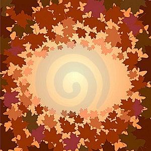 Frame Of Maple Foliage Stock Photography - Image: 21230362