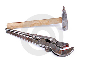 Metal Wrench And Hammer Royalty Free Stock Image - Image: 21234616