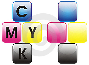 Primary Colors Color Cmyk Stock Image - Image: 21245391