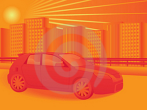 Car And Cityscape Stock Photography - Image: 21253202