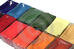 Set Of Paints Stock Photography - Image: 21254282