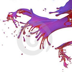Red Splashes Isolated On White Stock Image - Image: 21255701