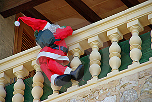 Santa Claus On The Balcony Stock Photo - Image: 21255820