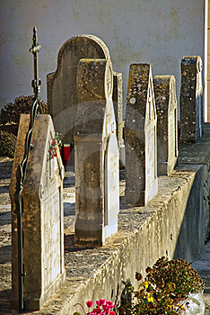 Cemetery Tombstones Stock Images - Image: 21255834