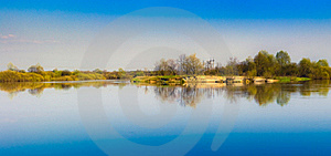 Sky Reflection On Lake. Royalty Free Stock Images - Image: 21264269