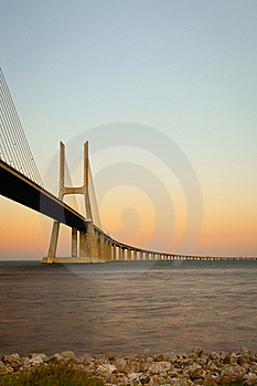 Vasco Da Gama Bridge. Royalty Free Stock Photos - Image: 21266258