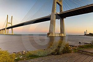 Vasco Da Gama Bridge. Stock Images - Image: 21266274