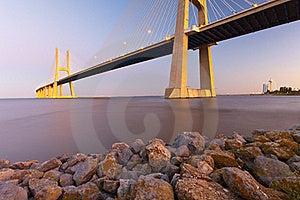 Vasco Da Gama Bridge. Stock Photography - Image: 21266302