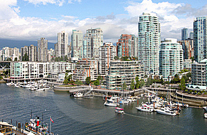 Vancouver BC Downtown Skyline At False Creek. Stock Photo - Image: 21266810
